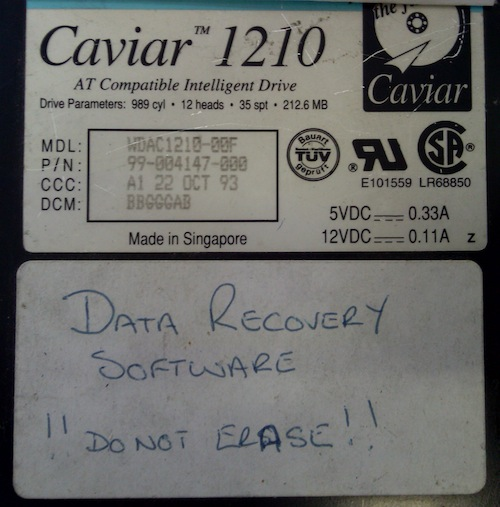 Data Recovery Software - Do Not Erase!