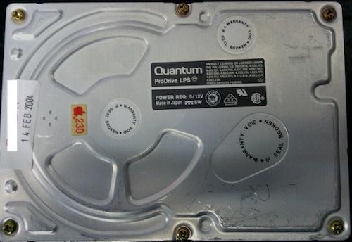 Old Quantum Pro Drive 250mb 50pin SCSI