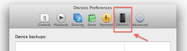 iPhone Backup Preferences