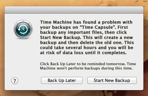 Time Machine must create new backup for you. Fixed