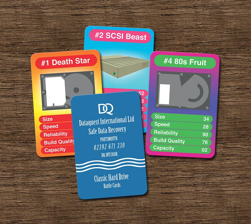 Classic Hard Drive Battle Cards