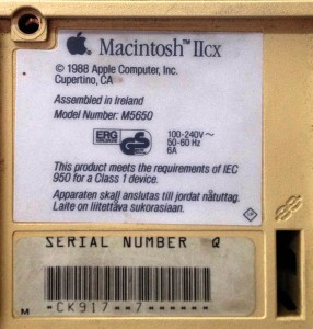 Macintosh IIcx Label